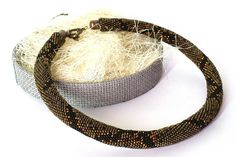 Crochet Necklace  Rope Necklace  Collar Necklace  Statement Seed Bead Necklace, Rope Necklace, Collar Necklace, Seed Beads, Crochet Necklace, Beaded Necklace, Crochet Rope, Bead Crochet, Snake Patterns