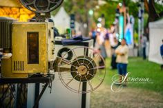The old analog rotary film movie projector at outdoor cinema movies theater for show people in the Park. family movies win big in theaters Cinema Movie Theater, Cinema Movies, Film Movie, Outdoor Cinema, Movie Projector, Family Movies, Rotary, Friends Family, Old Things