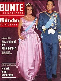 1962: Konstantin von Griechenland und Anne-Marie von Dänemark