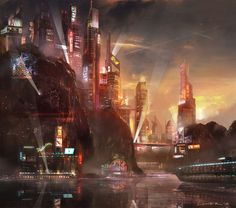 """Harbor City"" by TitusLunter // DeviantART"