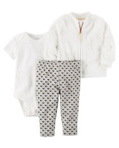 71e140c1e Baby Girl 3-Piece Little Jacket Set from Carters.com. Shop clothing &