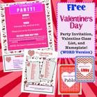 These templates make planning your class Valentine's Day party a breeze! Just open and edit with YOUR information.   The party invitation/informati...