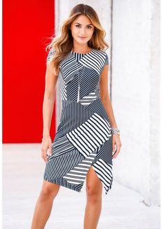 Sukienka shirtowa w paski Elegancka • 89.99 zł • bonprix