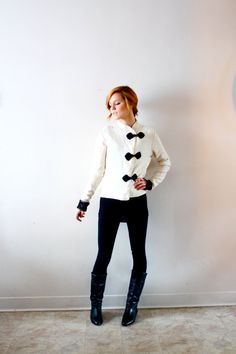 Vintage victorian white sweater by ThisVintageGirl on Etsy, $46.00