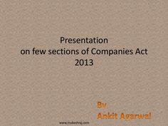 New Company Act.ppt by Mukesh Goel via slideshare