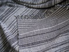 Eva Stossel Double-Width Woolen Blanket in Plain Weave (with color-and-weave effects)