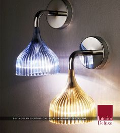E Wall Sconce - Kartell  Shop Online At http://www.interior-deluxe.com/e-wall-sconce-p15648.html  #ModernLighting