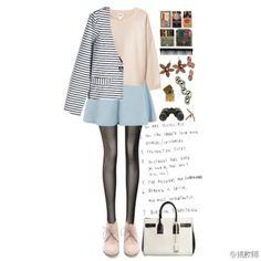 条纹 Polyvore, Image, Fashion, Moda, Fasion, Trendy Fashion, La Mode