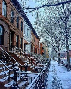 Places In New York, Places To Go, New York Winter, I Love Nyc, City Photography, Travel Goals, Winter Scenes, Street View, Main Street