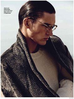 <3 the coat.  Dominik Bauer Appears in Philipp Plein Fall 2014 Campaign + GQ Spain. Emporio Armani
