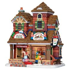 Lemax Village Collection Christmas Village Building, Geppetto's Toy Shop - Seasonal - Christmas - Villages & Collectibles