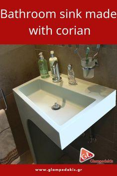 #Bathroom #corian #sink  #bathroomideas #bathroom design