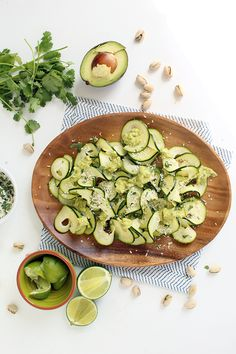 Lime-Coconut Zucchini Carpaccio with Avocado-Pistachio Drizzle - Guest Post by Ali Maffucci of Inspiralized - Against All Grain