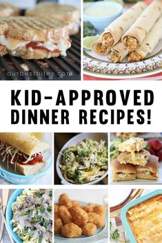 Kid-Friendly Dinner Recipes: Tried and True dinner recipes our kids love, and we think yours will too!  From OurBestBites.com