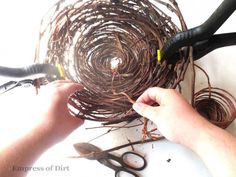 Take A Wreath - Make A Decorative Bird Nest :: Hometalk
