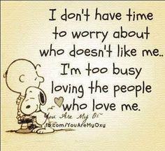 Smart Fellow. We should listen to Snoopy.