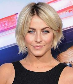 Short Thin Blonde Bob Haircut