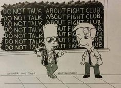 horrorsoflife: Artist Matt Schofield The Simpsons/Fight Club mashup Fight Club 1999, Fight Club Rules, Simpson Art, Bart Simpson, Marla Singer, Tyler Durden, Where Is My Mind, David Fincher, Cultura Pop