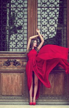 Red and flowy