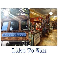 """Add a little blue skies to your life! Just """"LIKE"""" this post on FB or Instagram (#blueskieschatt) to enter to win a $25.00 gift certificate. Tag a friend in the comment section and double your chances."""