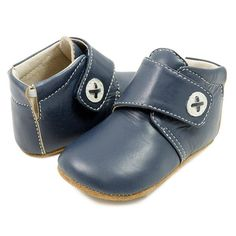 Adorable boys leather bootie, perfect for first walkers | Livie & Luca