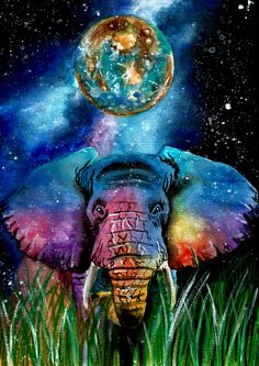 Elephant from Mercury.Art by Gabi Xavier.Instagram @gabi_violet