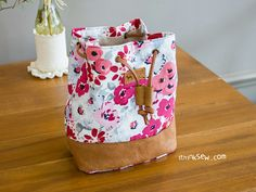 Natalie Cosmetic Bucket Pouch PDF Pattern
