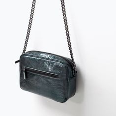 Image 4 of Metallic messenger bag with chain from Zara