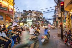 Ho Chi Minh city. I love how busy and vibrant it looks! There would always be something for you to do and see and look at. I want to be somewhere like that.
