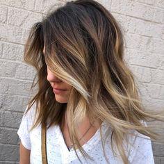 Shadow root melt balayage hair color.