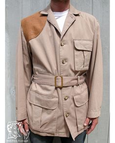Men's safari jacket. How awesome are these details?