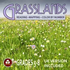 Grassland Biome Reading Passages Mapping And Color By Number Worksheet