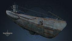 Hell Below - WWII German Uboat, Marie Sanginesi on ArtStation at https://www.artstation.com/artwork/r21Ya