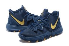 fee13a22945b Nike Kyrie 5 Philippines Navy Blue Metallic Gold Shoes Price-3 Top Basketball  Shoes