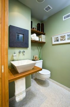 clever idea for a small bathroom