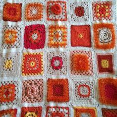 """11 likerklikk, 3 kommentarer – Jane Monica Tvedt (@empireofheart) på Instagram: """"Crochet, orange #cakra #orange #janemonicatvedt #blanket #crochet #instart #sandnes #myhome…"""""""