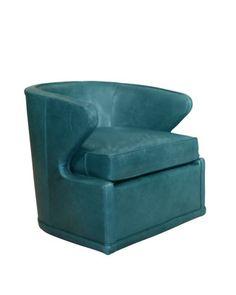 Dyna St. Clair Peacock Blue Swivel Chair at Neiman Marcus.