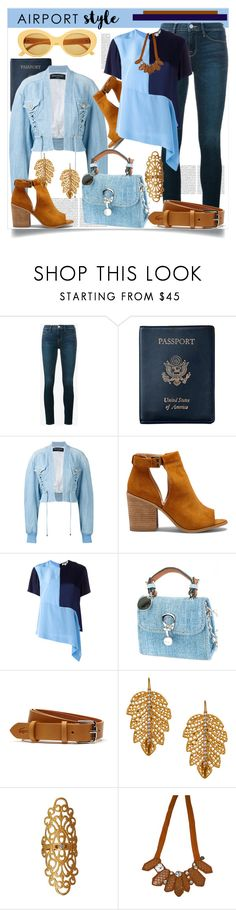 """""""Jet Set: Airport Style"""" by helenaymangual ❤ liked on Polyvore featuring Oris, Frame, Royce Leather, Balmain, Sole Society, Diane Von Furstenberg, Ermanno Scervino, Lacoste, Marika and Emporio Armani"""