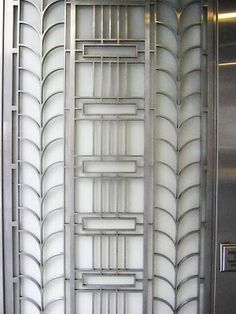 Gilded Art Deco patterns on New York architecture