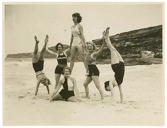 Theatre Royal chorus, Tamarama Beach, ca. 1938 / by Sam Hood by State Library of New South Wales collection, via Flickr