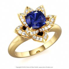 Blue Sapphire Ring #blue #sapphire