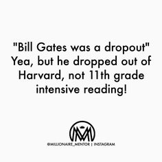 Stay in school it makes you smarter. by millionaire_mentor Millionaire Mentor, Make It Yourself, Thoughts, Reading, School, How To Make, Instagram, Word Reading, The Reader