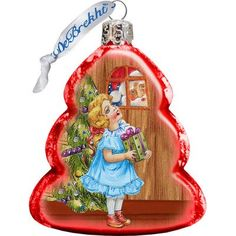 G. Debrekht Thank You Santa Glass Ornament