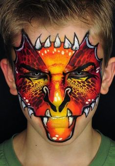 Simple face painting designs are not hard. Many people think that in order to have a great face painting creation, they have to use complex designs, rather then simple face painting designs. Monster Face Painting, Dragon Face Painting, Face Painting For Boys, Body Painting, Animal Face Paintings, Animal Faces, Face Painting Tutorials, Face Painting Designs, Halloween Meninas