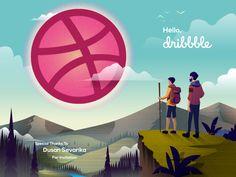 Hello Dribbble! :) by Ryan Ahmad Yunus #Design Popular #Dribbble #shots
