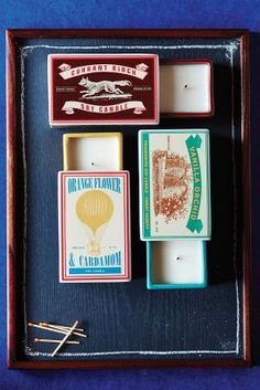 Matchbox Candles! Oh Anthropologie, the things you collect.