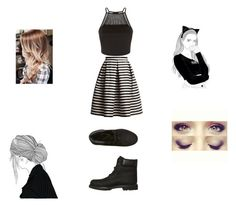 """""""MY CHICKK SIDE"""" by rocio-scummy ❤ liked on Polyvore featuring Rumour London and Timberland"""