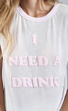 wildfox: vintage ringer tee - need a drink | ShopRiffraff | Affordable Women's Clothing, Shoes, Gifts, Home good