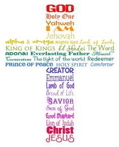 Names of God cross von purejoycreative auf Etsy, $18,00