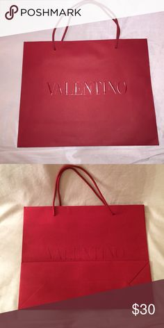 "Valentino Shopping bag Valentino shopping bag- fits a shoe box. 16x 13"" Valentino Bags Cosmetic Bags & Cases"